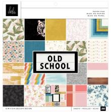 Heidi Swapp Single-Sided Paper Pad 12X12 36/Pkg - Old School