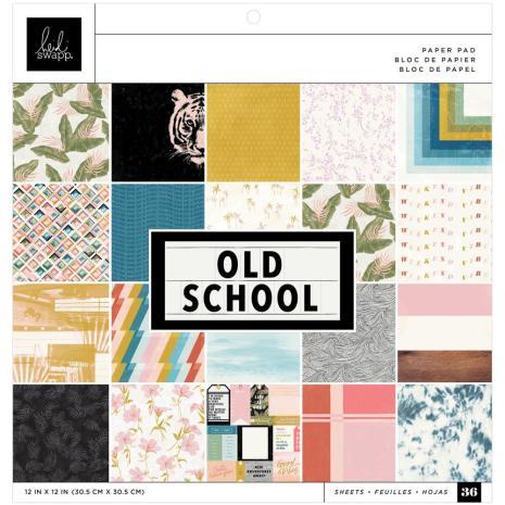Heidi Swapp Single-Sided Paper Pad 12X12 36/Pkg - Old School