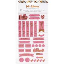 Amy Tangerine Embossed Puffy Stickers 39/Pkg - Late Afternoon