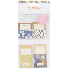 Amy Tangerine Adhesive Pocket Notes 16/Pkg - Late Afternoon