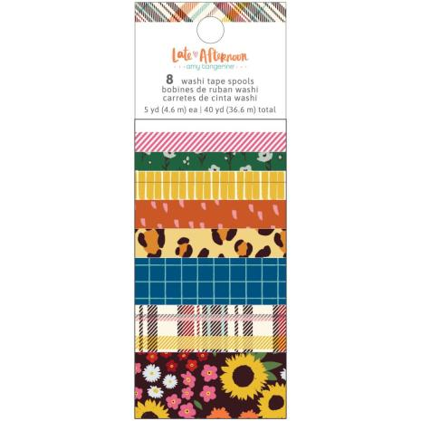 Amy Tangerine Washi Tape 8/Pkg - Late Afternoon