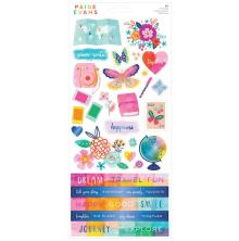 Paige Evans Cardstock Stickers 86/Pkg - Go The Scenic Route