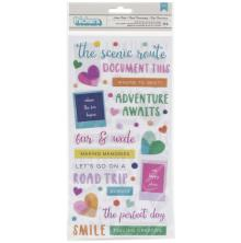Paige Evans Go The Scenic Route Thickers Stickers 5.5X11 - Phrase/Puffy