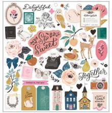 Maggie Holmes Chipboard Stickers 12X12 50/Pkg - Marigold