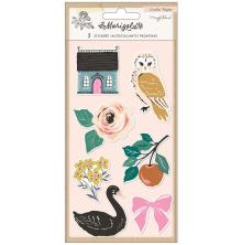 Maggie Holmes Embossed Puffy Stickers - Marigold