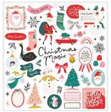 Crate Paper Chipboard Stickers 12X12 - Hey, Santa