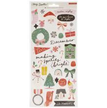 Crate Paper Cardstock Stickers 70/Pkg - Hey, Santa