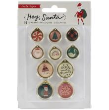 Crate Paper Metal Charms 10/Pkg - Hey, Santa
