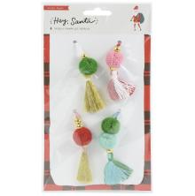 Crate Paper Beaded Tassels 4/Pkg - Hey, Santa