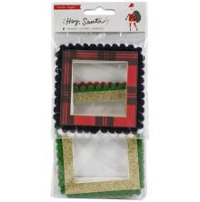 Crate Paper Pom Pom Frames 4/Pkg - Hey, Santa