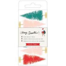 Crate Paper Wire Brush Tree 6/Pkg - Hey, Santa