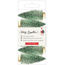 Crate Paper Wire Brush Tree 6/Pkg - Hey, Santa