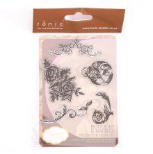 Tonic Studios Clear Stamp Set - Bouquet & Bauble 976E