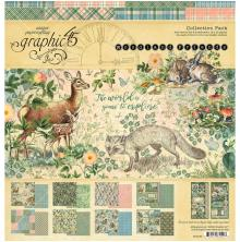 Graphic 45 Collection Pack 12X12 - Woodland Friends