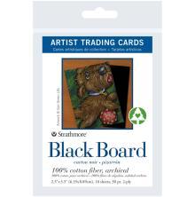 Strathmore Artist Trading Cards 2.5X3.5 10/Pkg - Black Board