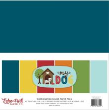 Echo Park Solid Cardstock 12X12 6/Pkg - My Dog
