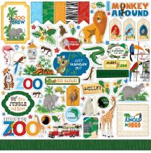 Carta Bella Zoo Adventure Cardstock Stickers - Elements