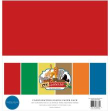 Carta Bella Solid Cardstock 12X12 6/Pkg - Zoo Adventure
