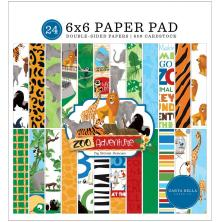 Carta Bella Double-Sided Paper Pad 6X6 - Zoo Adventure