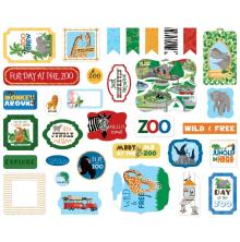 Carta Bella Zoo Adventure Cardstock Die-Cuts 33/Pkg - Icons
