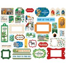 Carta Bella Zoo Adventure Cardstock Die-Cuts 33/Pkg - Frames & Tags