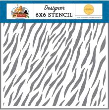 Carta Bella Zoo Adventure Stencil 6X6 - Zebra