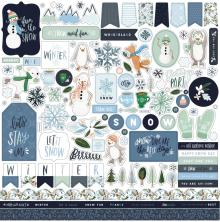 Carta Bella Winter Market Cardstock Stickers - Elements