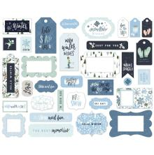 Carta Bella Winter Market Cardstock Die-Cuts 33/Pkg - Frames & Tags