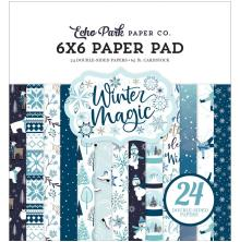 Echo Park Double-Sided Paper Pad 6X6 - Winter Magic
