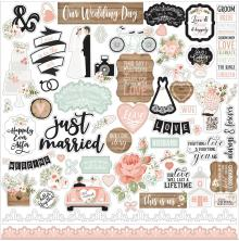Echo Park Our Wedding Cardstock Stickers - Elements