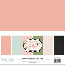 Echo Park Solid Cardstock 12X12 6/Pkg - Our Wedding
