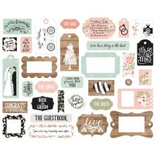 Echo Park Our Wedding Cardstock Die-Cuts 33/Pkg - Frames & Tags
