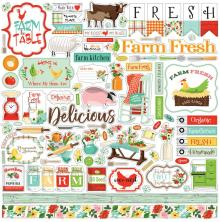 Carta Bella Farm To Table Cardstock Stickers - Elements