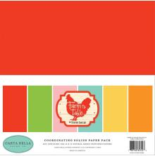 Carta Bella Solid Cardstock 12X12 6/Pkg - Farm To Table