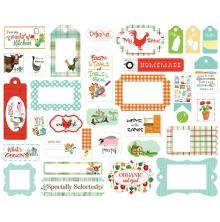 Carta Bella Farm To Table Cardstock Die-Cuts 33/Pkg - Frames & Tags