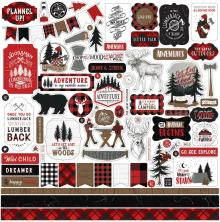 Echo Park Lets Lumberjack Cardstock Stickers - Elements