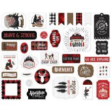 Echo Park Lets Lumberjack Cardstock Die-Cuts 33/Pkg - Icons