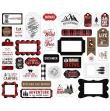 Echo Park Lets Lumberjack Cardstock Die-Cuts 33/Pkg - Frames & Tags