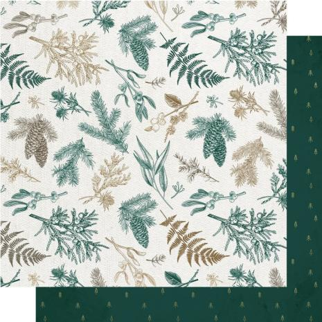 Kaisercraft Emerald Eve Double-Sided Cardstock 12X12 - Christmas Pine