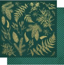 Kaisercraft Emerald Eve Double-Sided Cardstock 12X12 - Emerald Leaves