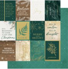 Kaisercraft Emerald Eve Double-Sided Cardstock 12X12 - Merry Moments