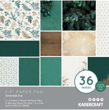 Kaisercraft Paper Pad 6.5X6.5 40/Pkg - Emerald Eve