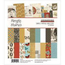 Simple Stories Double-Sided Paper Pad 6X8 - Simple Vintage Ancestry