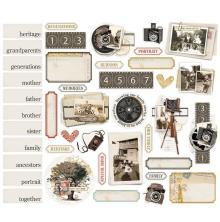 Simple Stories Bits & Pieces Die-Cuts 41/Pkg - Simple Vintage Ancestry Portrait