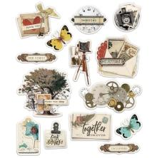 Simple Stories Layered Stickers 14/Pkg - Simple Vintage Ancestry