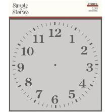 Simple Stories Simple Vintage Ancestry Stencil 6X6 - Clock