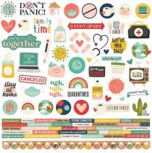 Simple Stories Sticker Sheet 12X12 - Quarantined