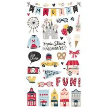Simple Stories Chipboard Stickers 6X12 - Say Cheese Main Street