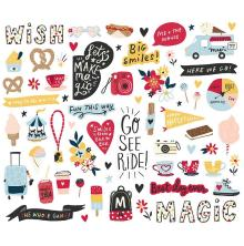 Simple Stories Bits & Pieces Die-Cuts 77/Pkg - Say Cheese Main Street