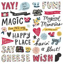 Simple Stories Foam Stickers 66/Pkg - Say Cheese Main Street